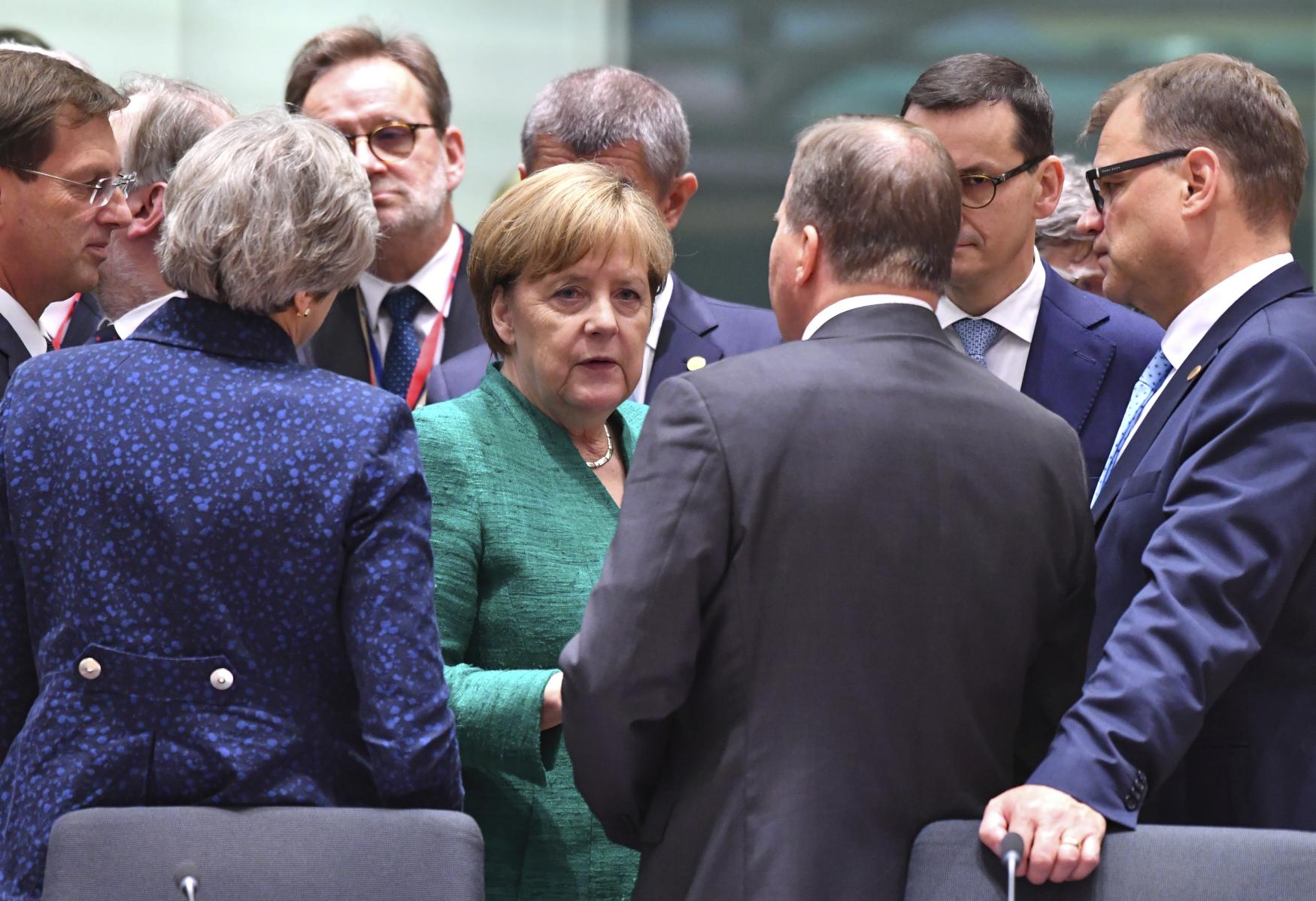 Německá kancléřka Angela Merkelová na summitu v Bruselu