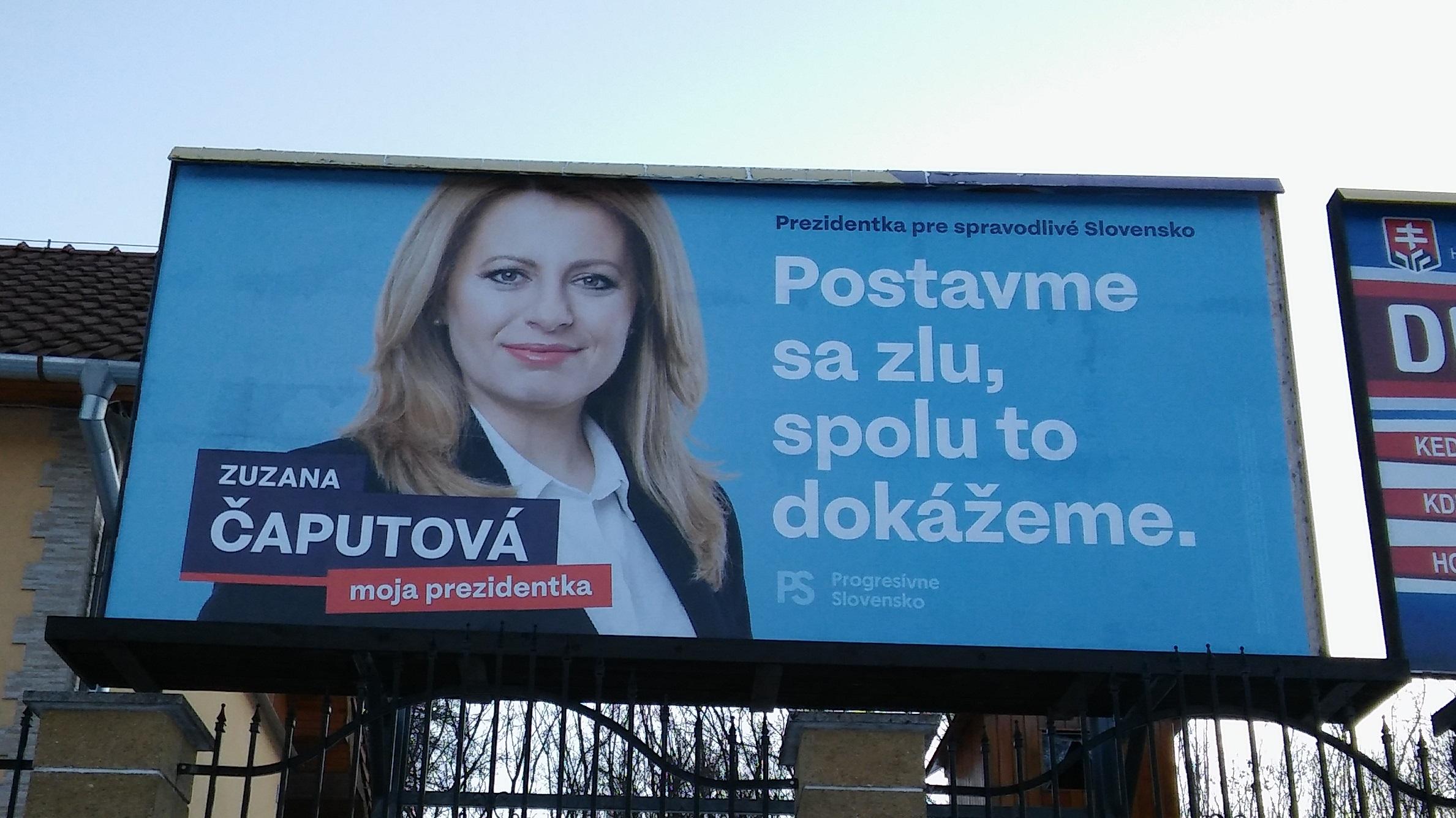 Zuzana Čaputová, kandidátka na slovenskou prezidentku