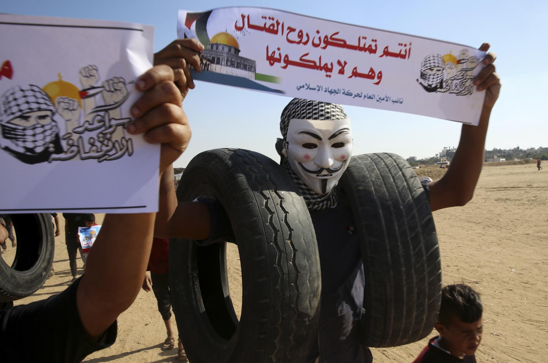 Protesty v blízkosti hranice pásma Gazy s Izraelem