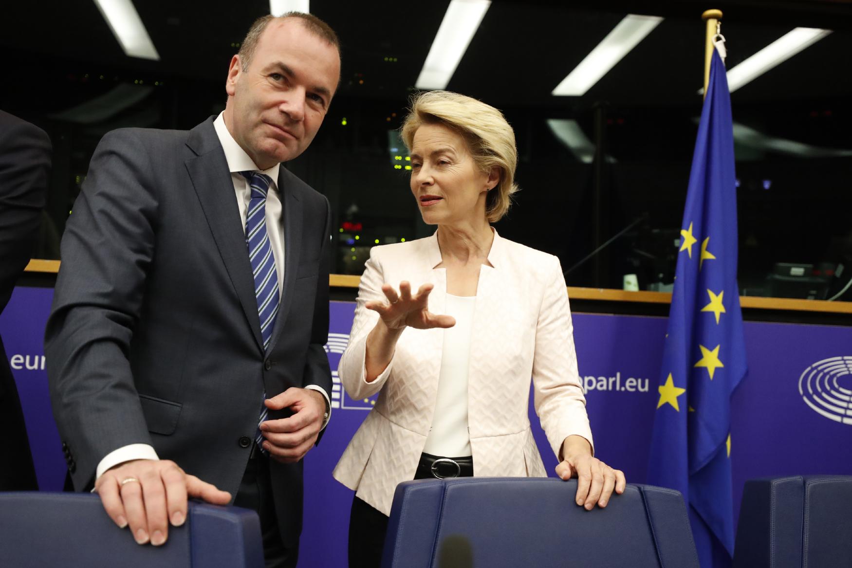 Manfred Weber a Ursula von der Leyenová