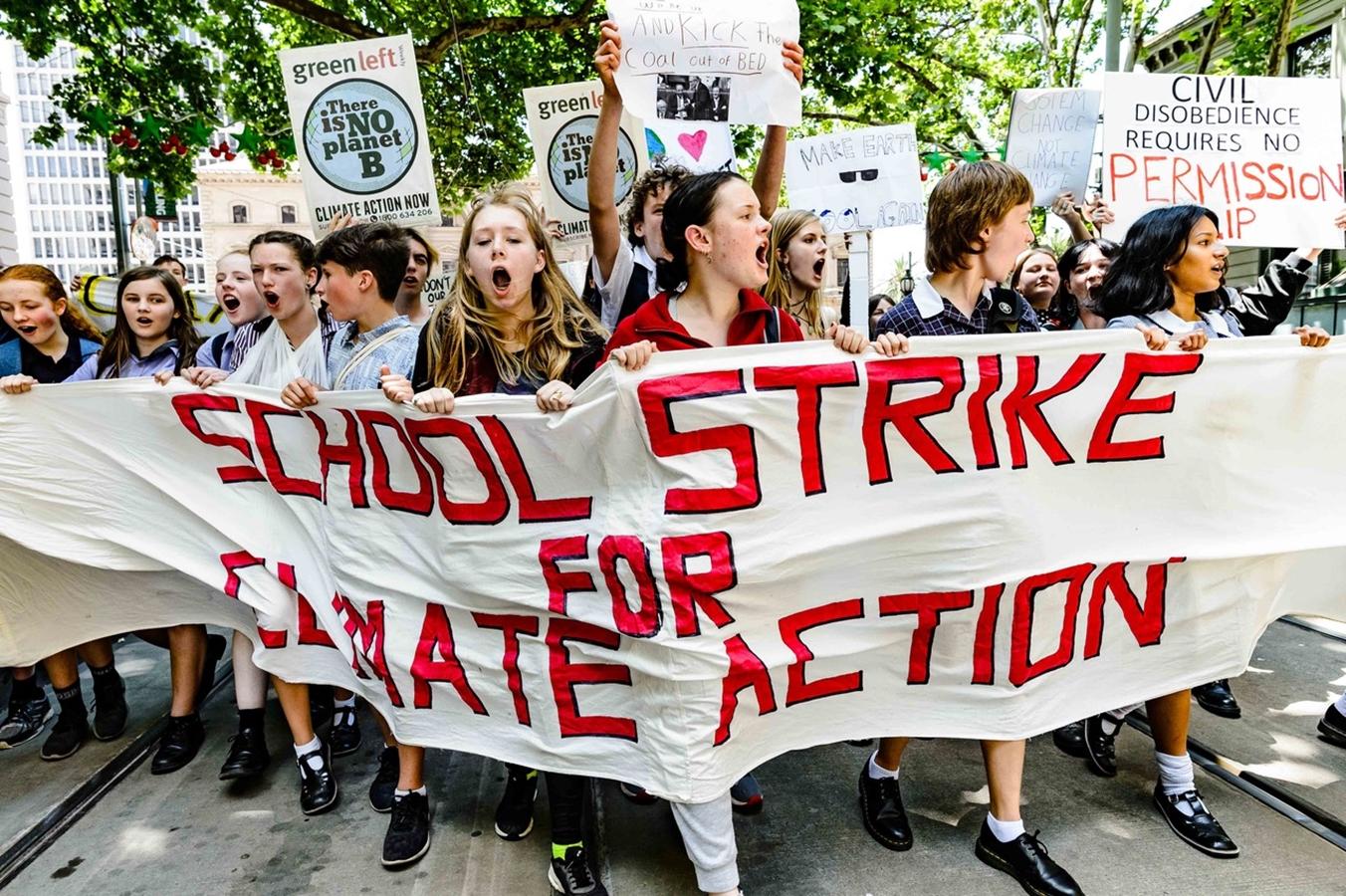 V Austrálii se 30. listopadu na akcích Strike for Climate Action sešlo 15 000 lidí