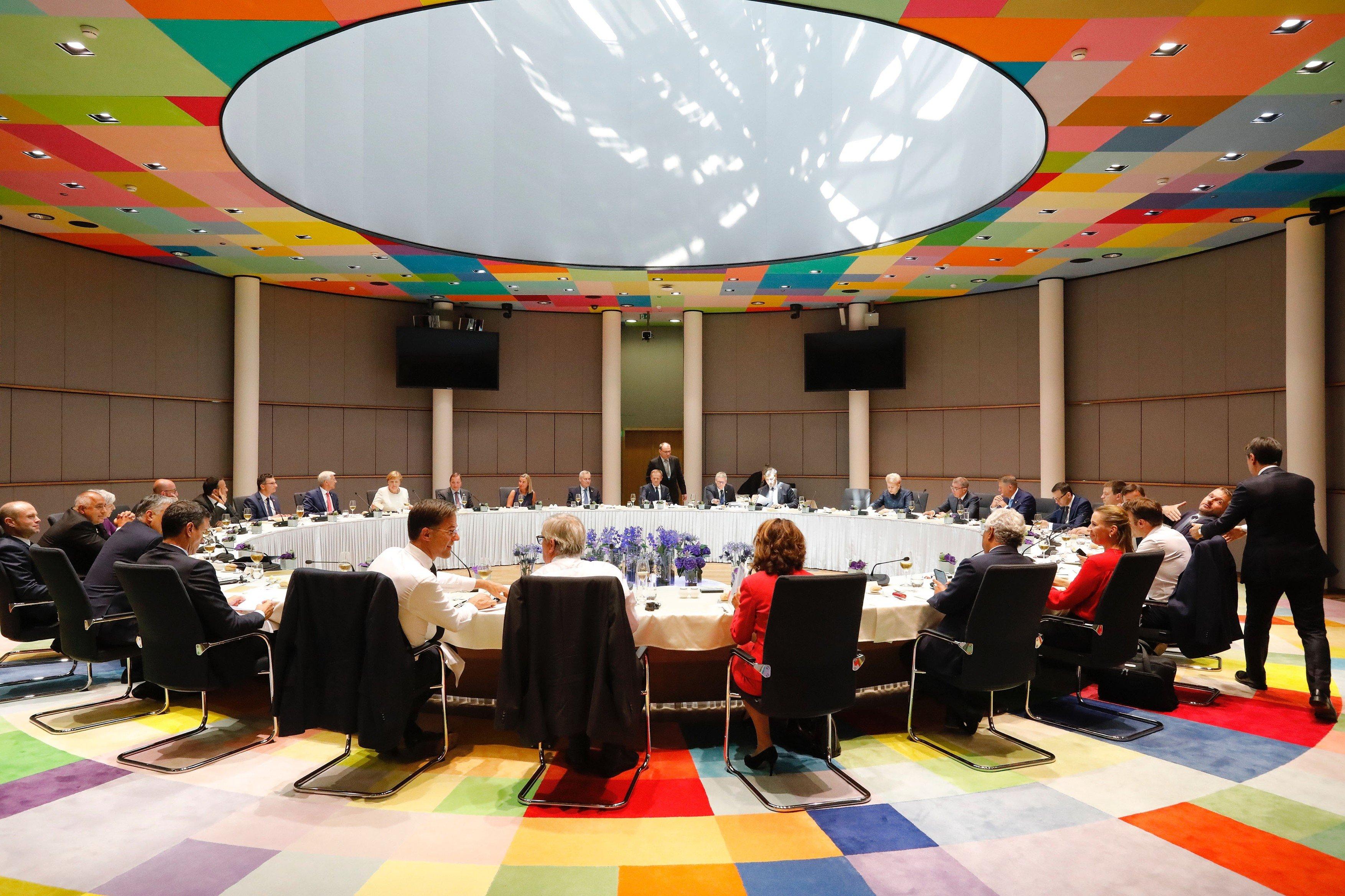 Představitelé zemí Evropské unie na summitu v Bruselu