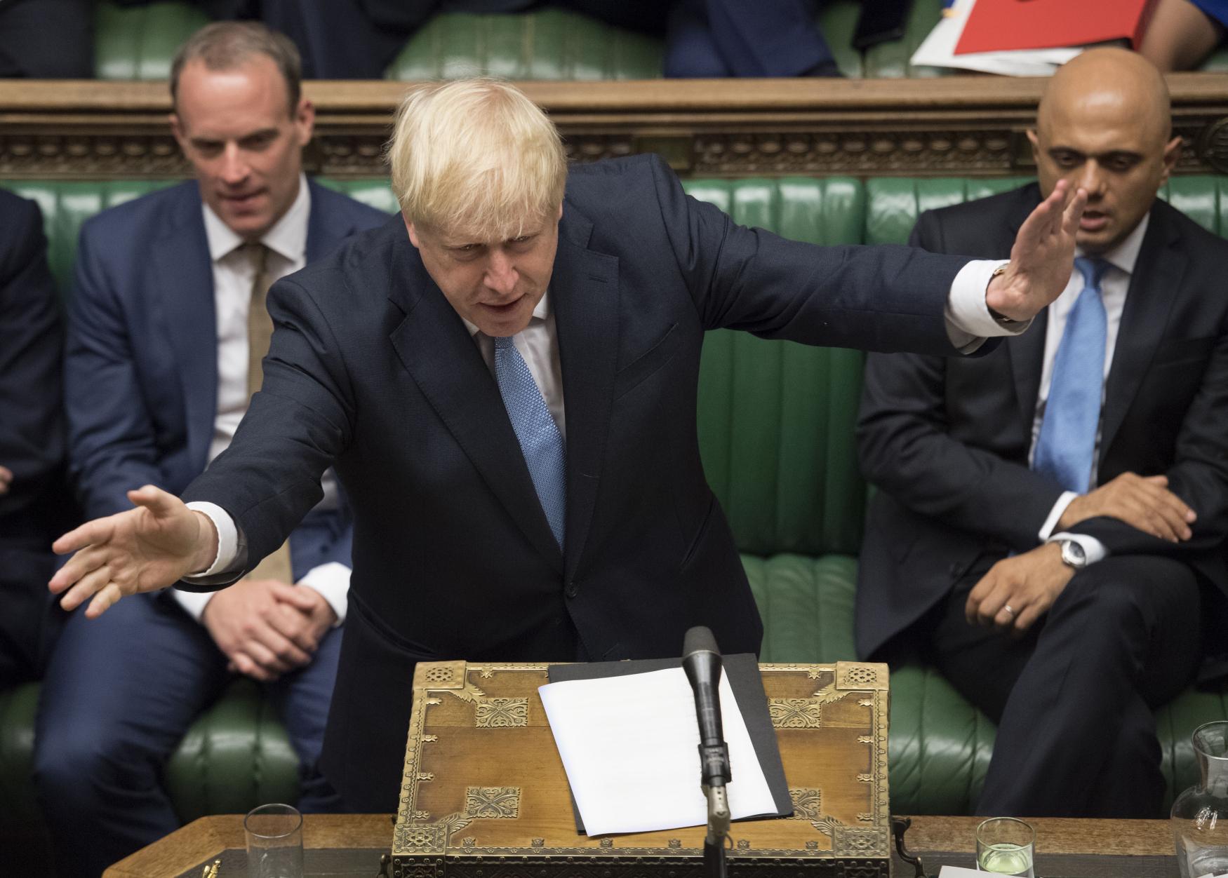 Boris Johnson ve sněmovně