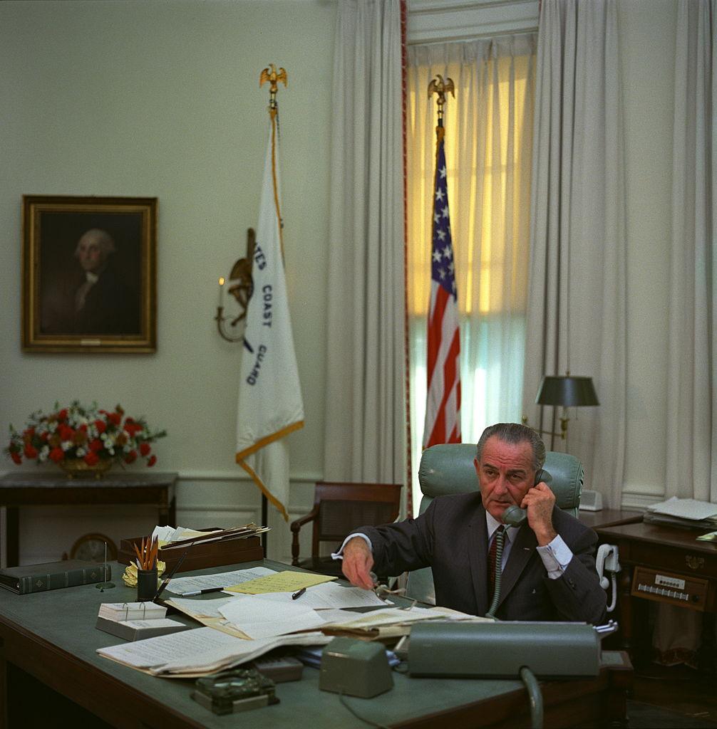Lyndon Johnson, 36. prezident USA, ve funkci byl v letech 1963-1969