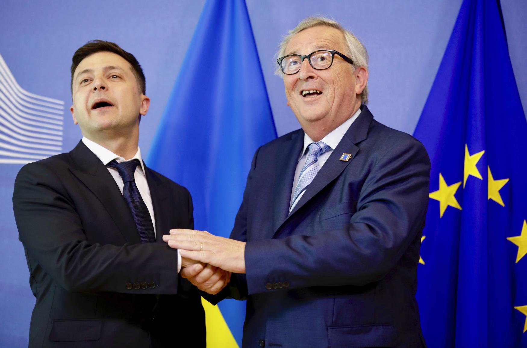 Volodymyr Zelenskyj a Jean-Claude Juncker