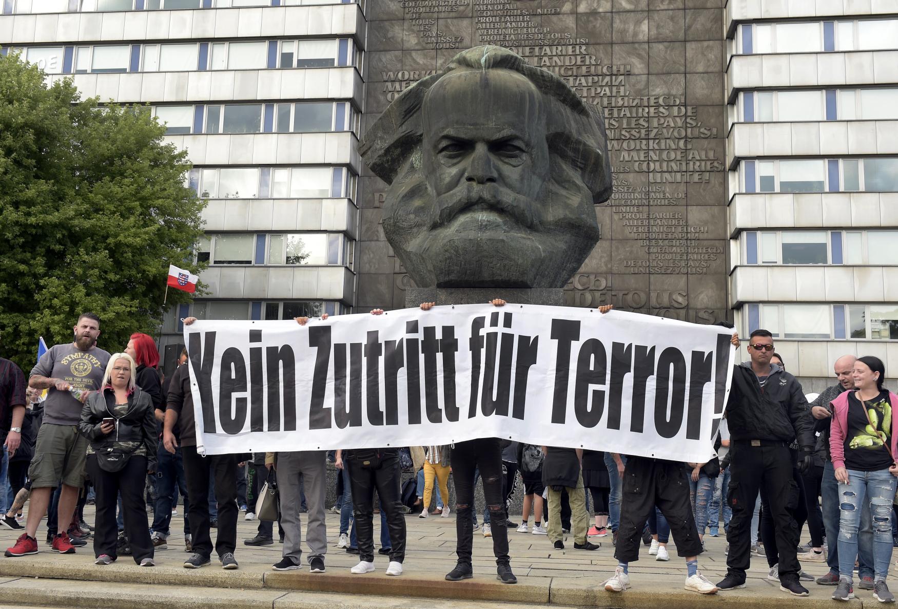 Demonstrace v saském Chemnitz