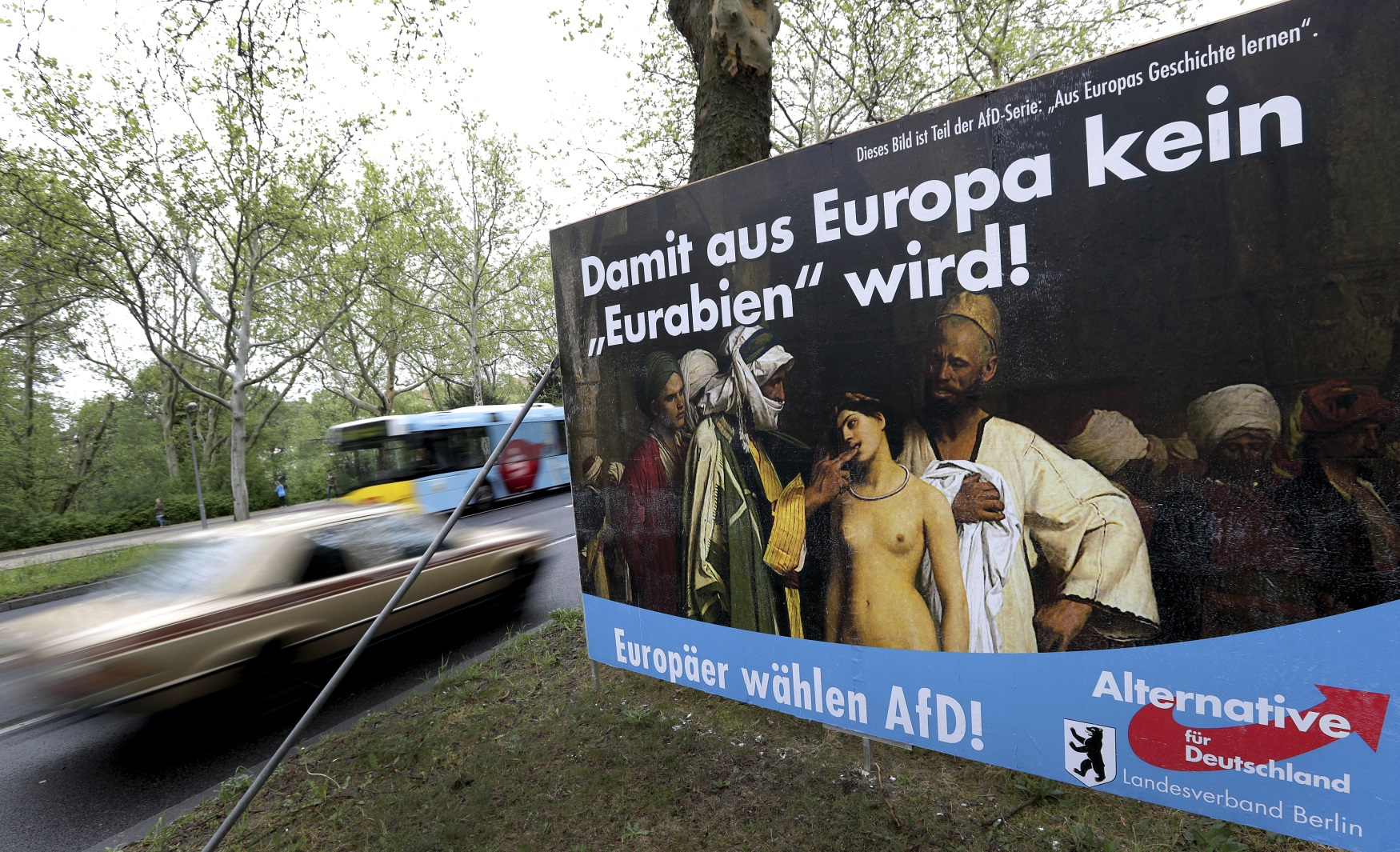 Kampaň německé AfD před volbami do Evropského parlamentu