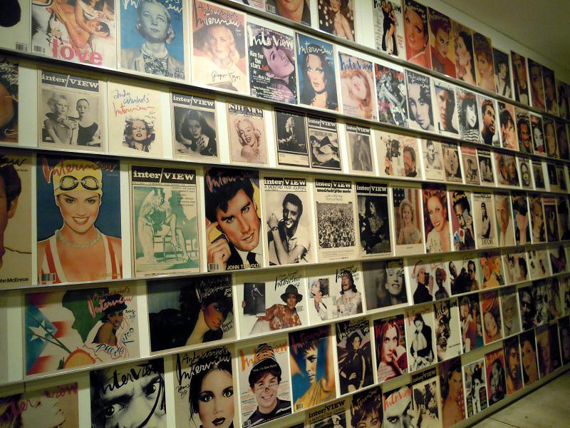 Titulní stránky magazínu Interview, Muzeum Andyho Warhola v Pittsburgu