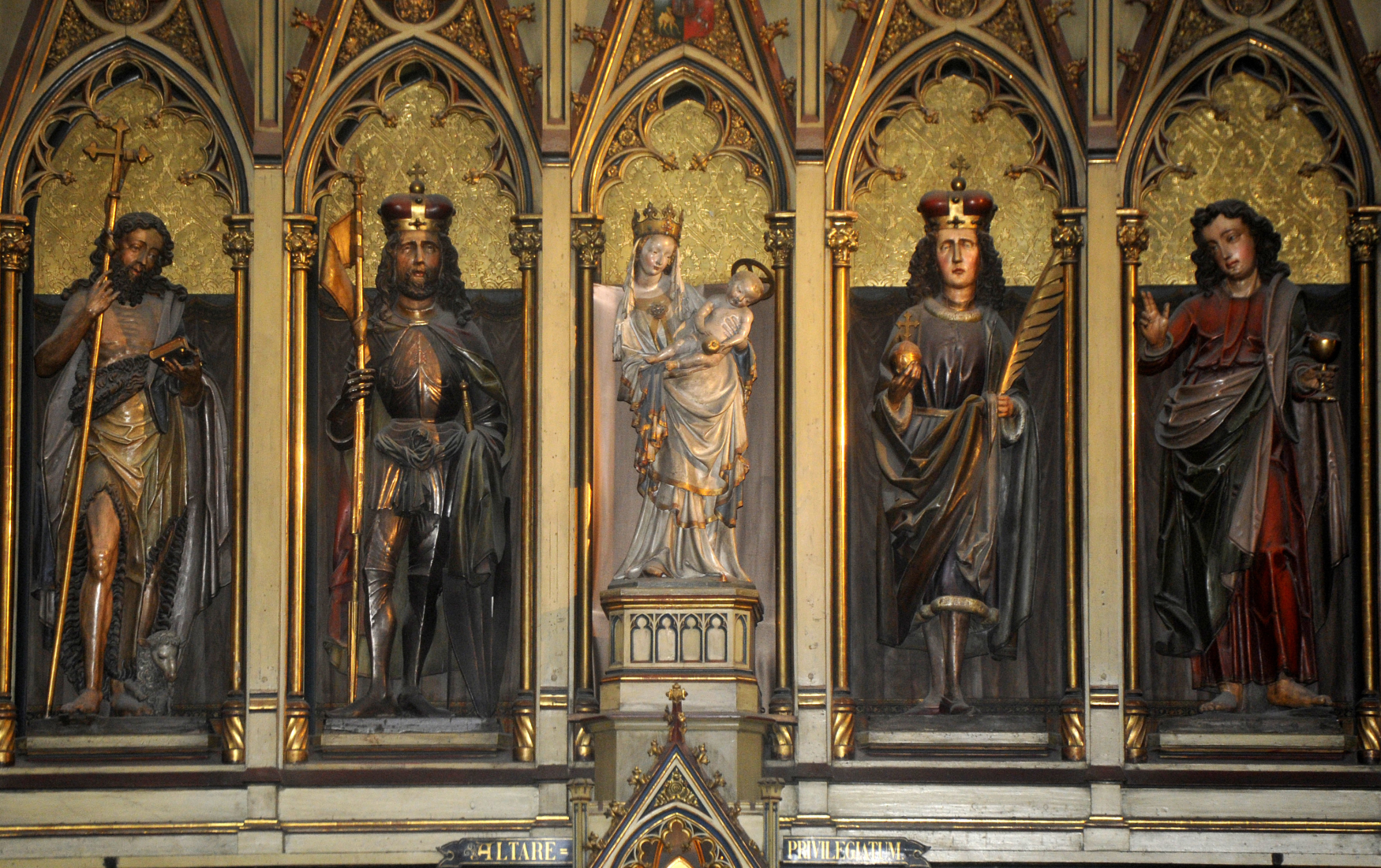 Gotická Plzeňská madona a Ježíškem