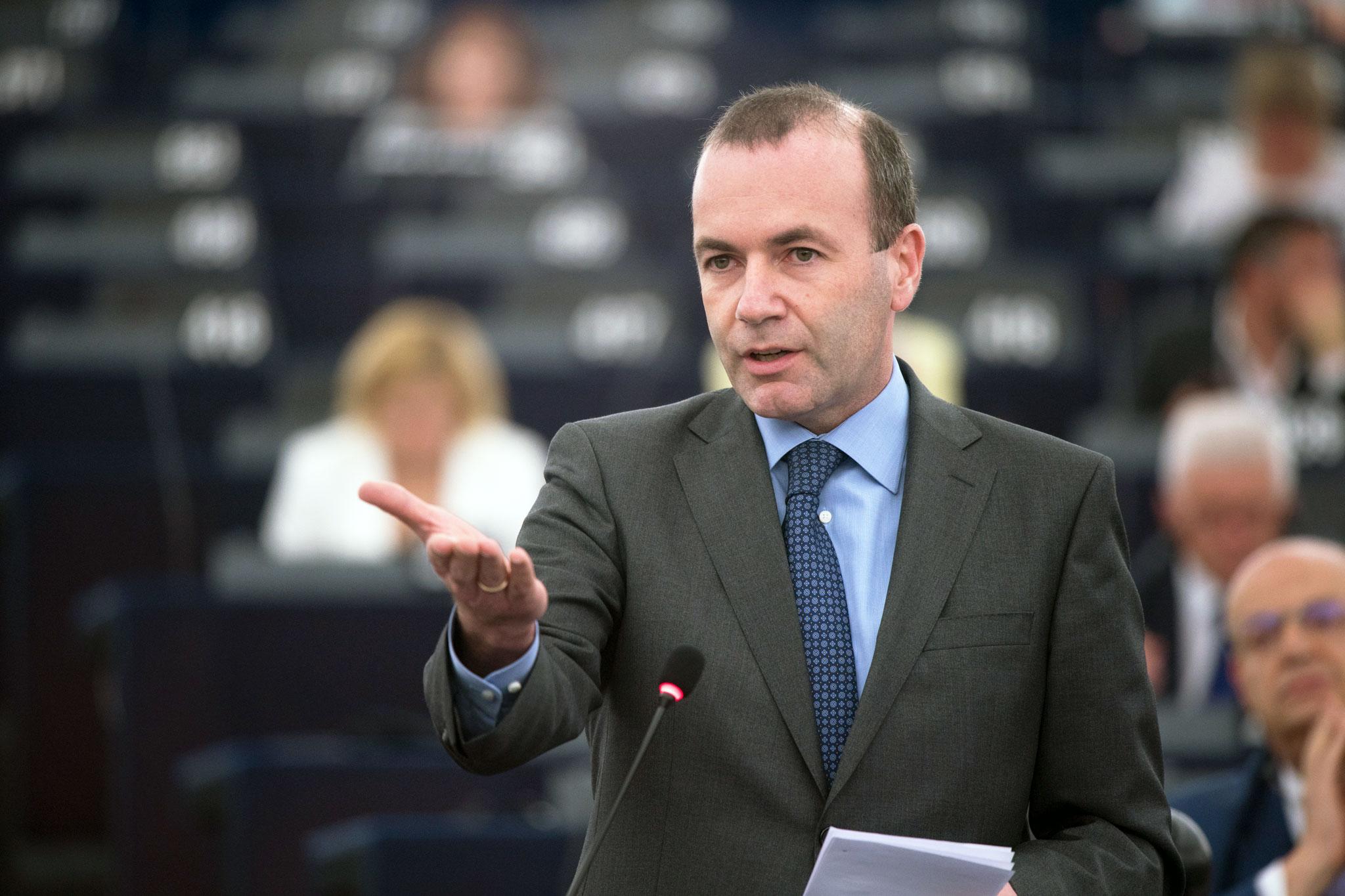 Manfred Weber, člen bavorské Křesťansko-sociální unie (CSU) a kandidát na šéfa EK