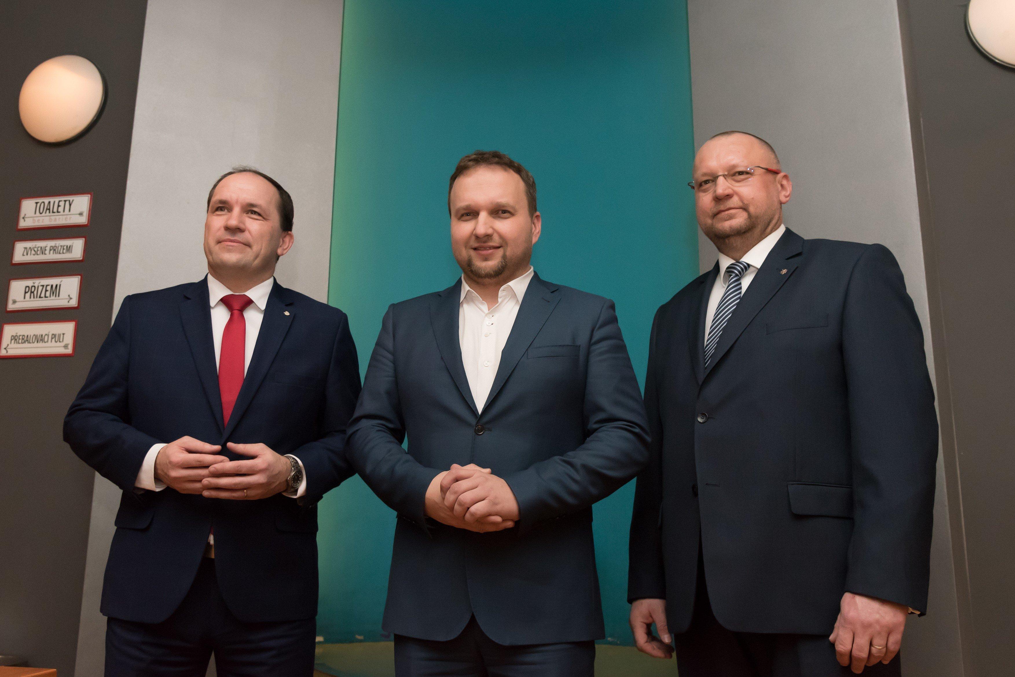 Marek Výborný, Marian Jurečka, Jan Bartošek