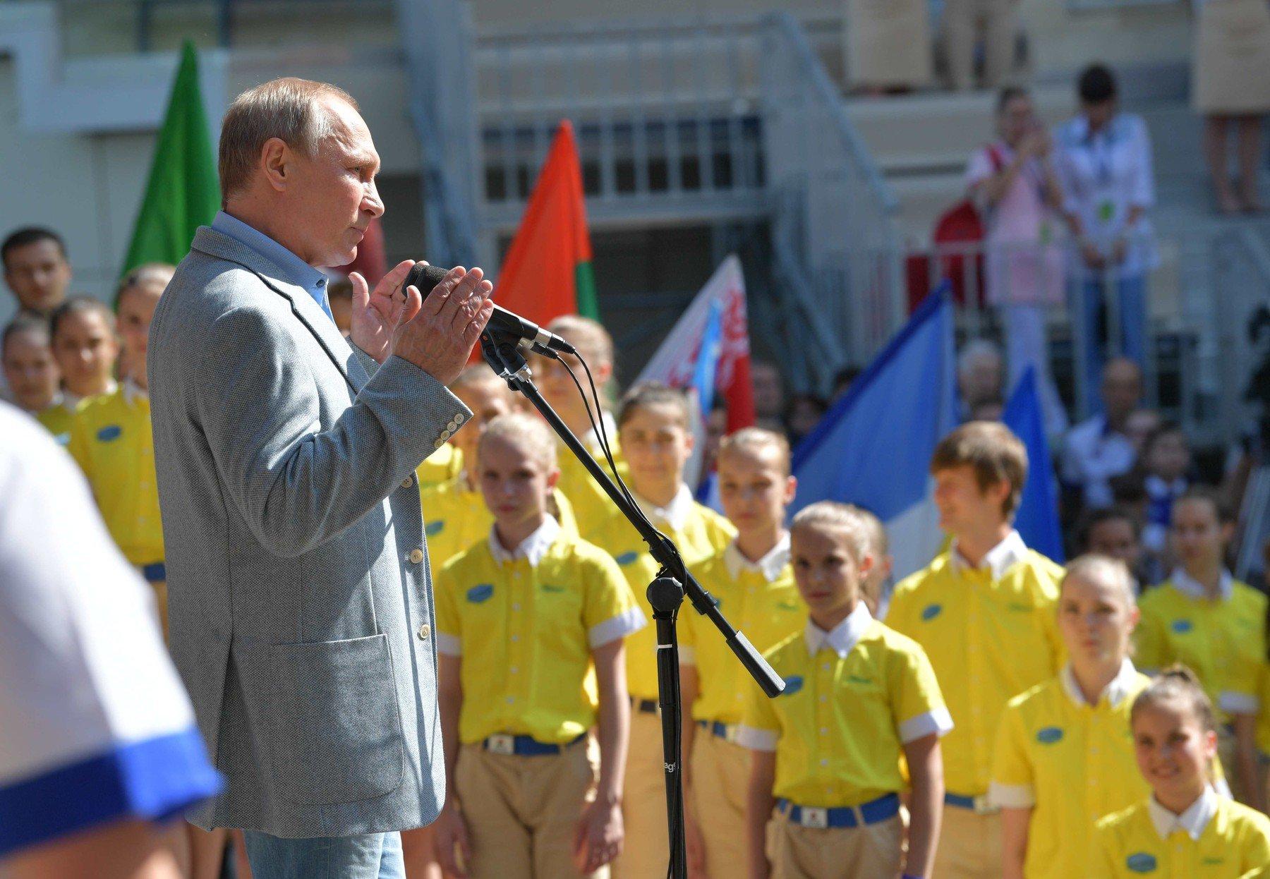 Vladimir Putin na návštěvě Artěku