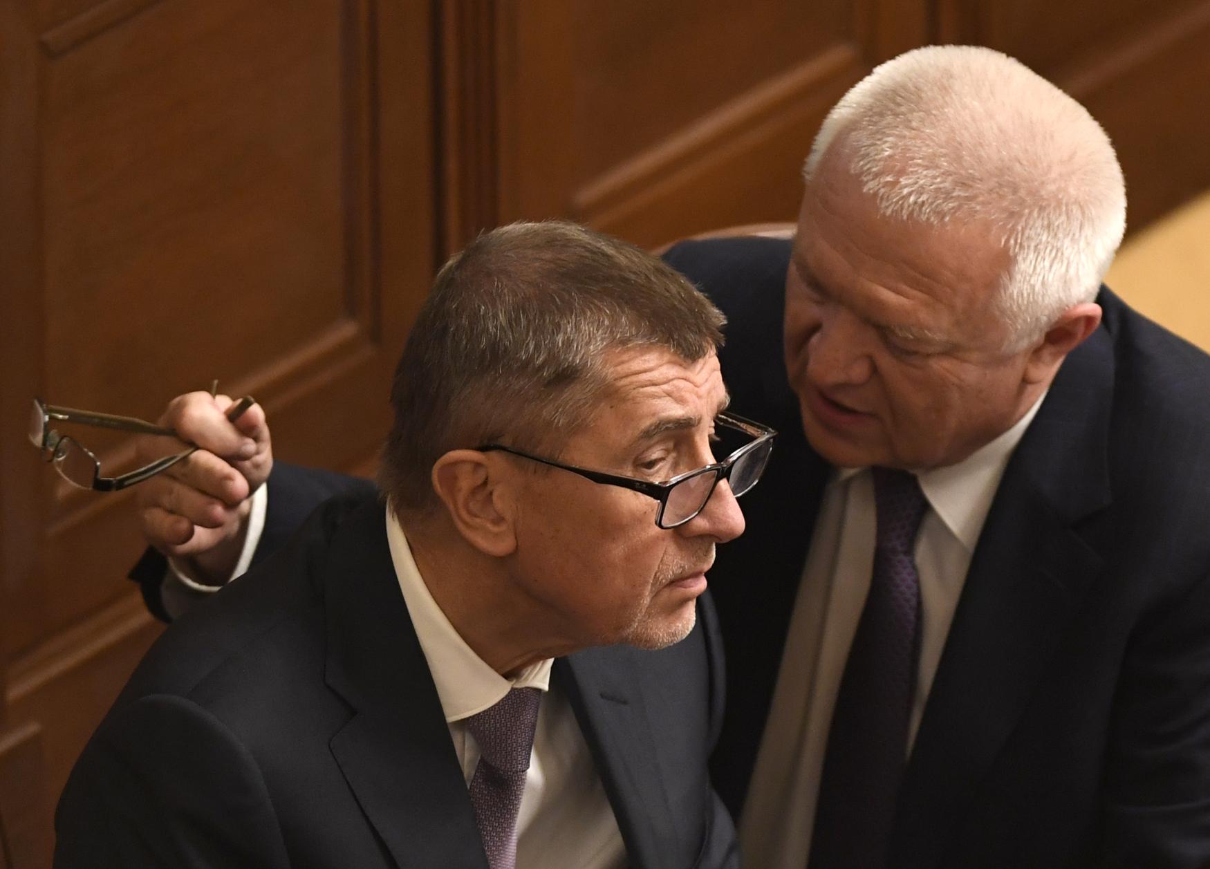 Jaroslav Faltýnek a Andrej Babiš.