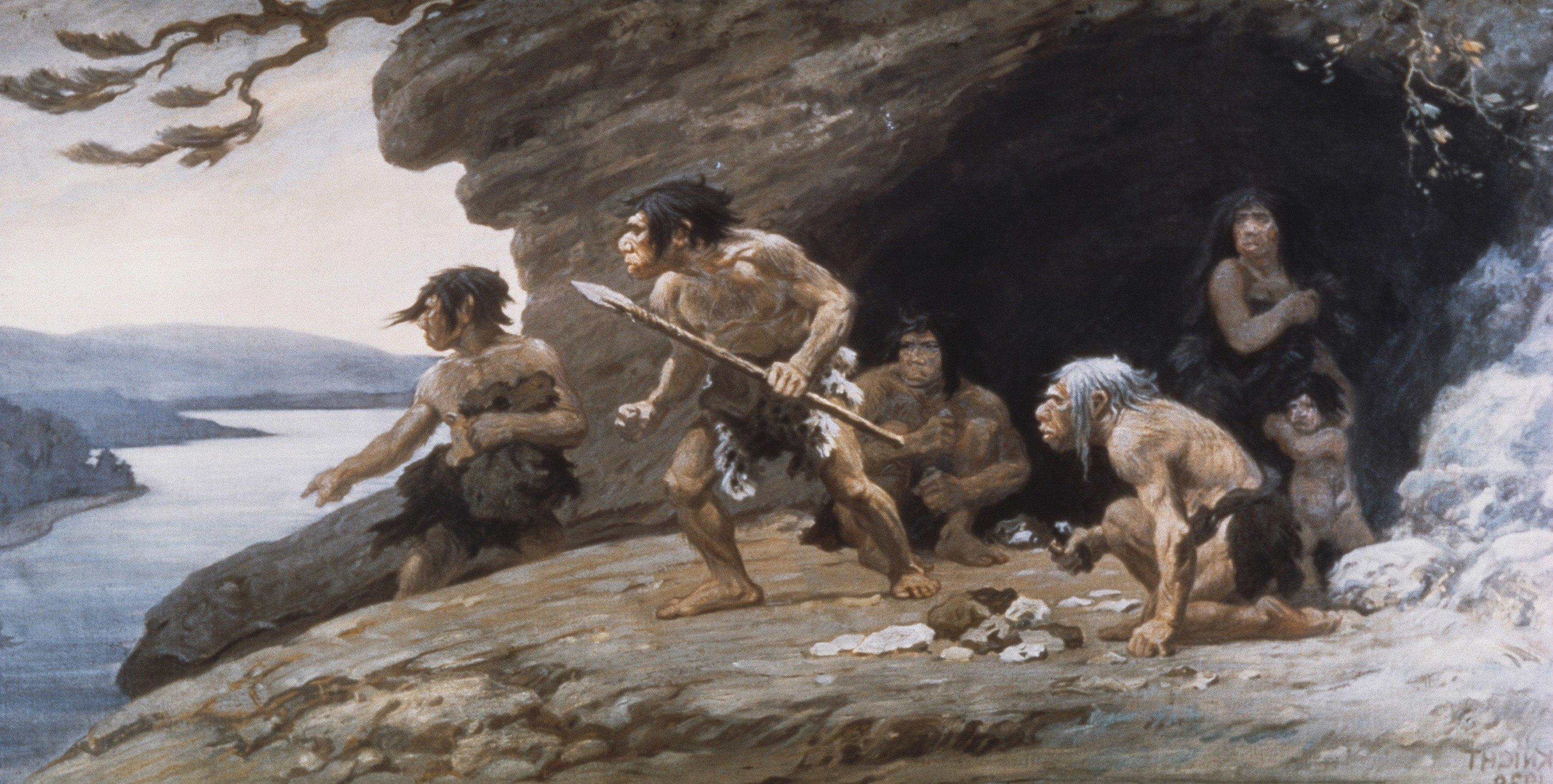 Neandrtálci v jeskyni