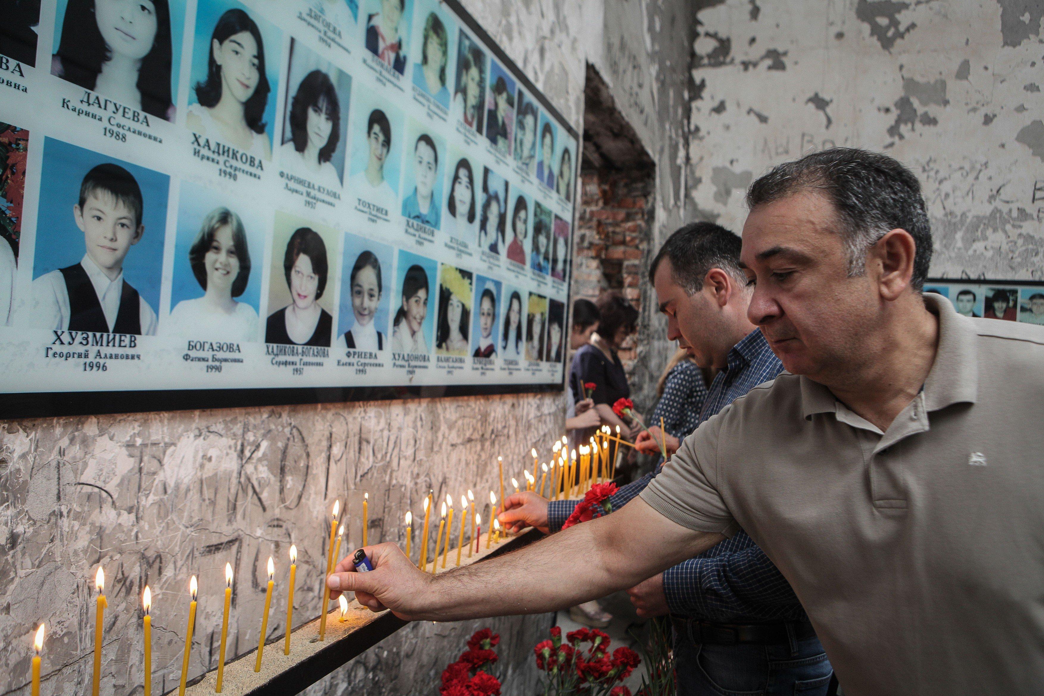 Vzpomínková akce v Beslanu v roce 2018
