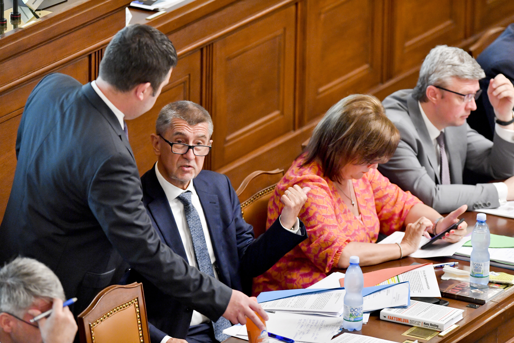 Premiér Andrej Babiš na schůzi Poslanecké sněmovny