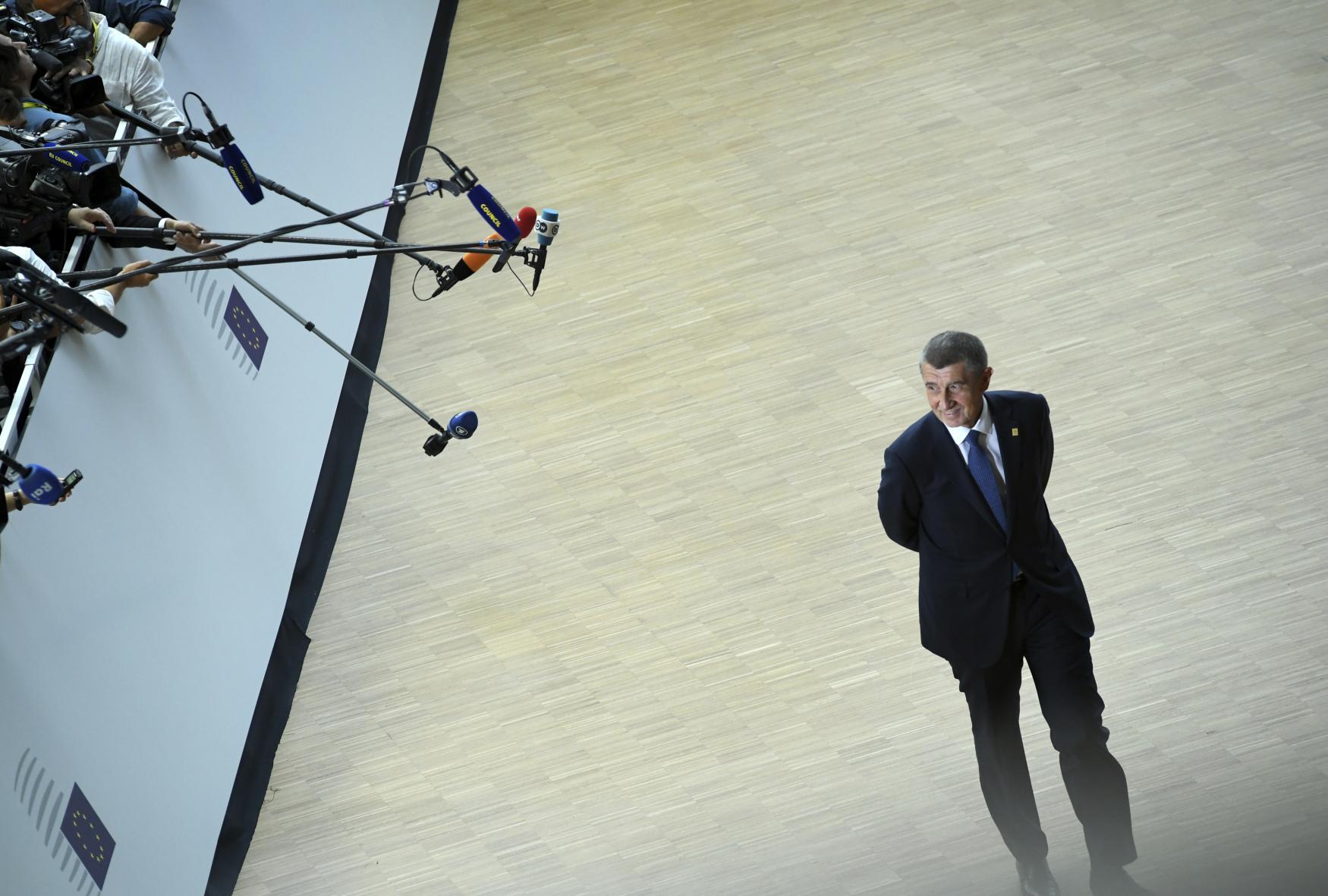 Andrej Babiš v Bruselu