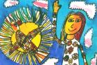 Ilustrace ke knize Kuře s modrýma očima vytvořily děti se zdravotním postižením