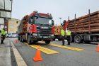 Vážení kamionů se dřevem, Vysočina