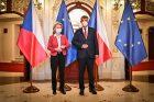 Premiér Andrej Babiš přivítal 19. července šéfku Evropské komise Ursulu Von der Leyenovou ve Státní opeře v Praze