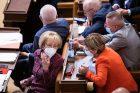 Helena Válková při jednání v Poslanecké sněmovně ČR.