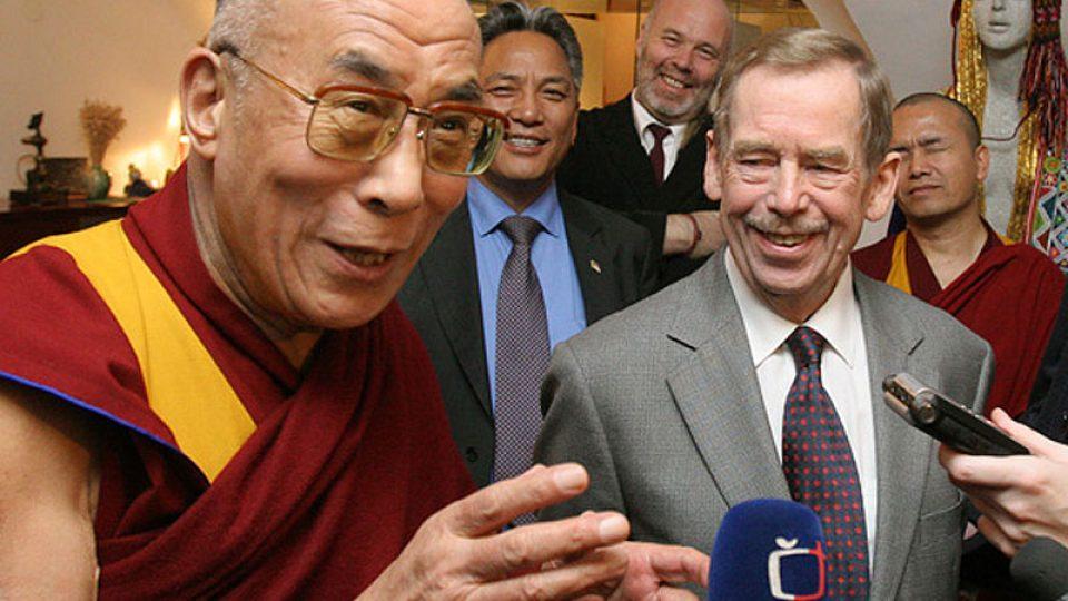Dalajláma a Václav Havel