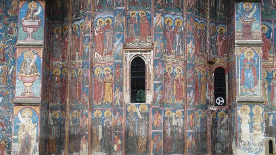 Malba na stěně kostela