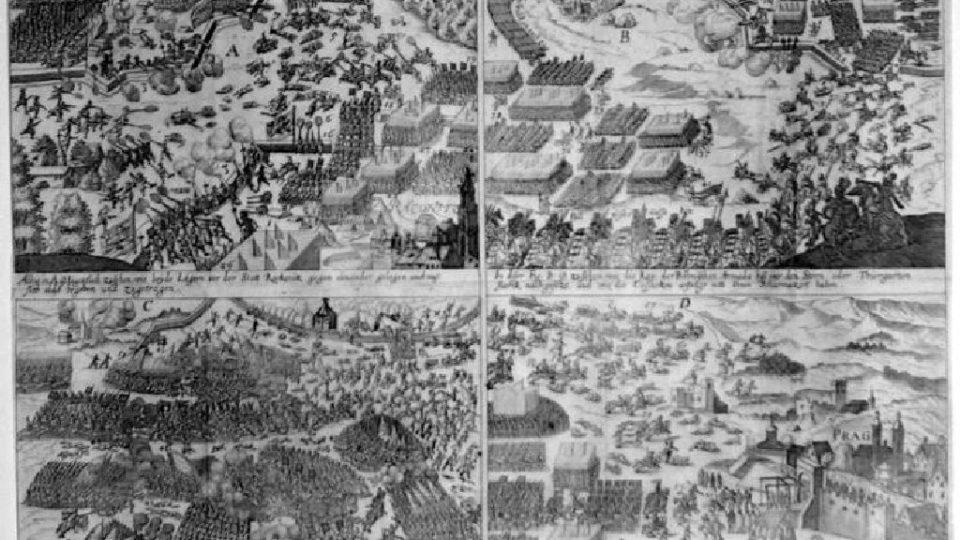 Dobové vyobrazení bitvy na Bílé hoře (foto uživatel Daniel Baránek)
