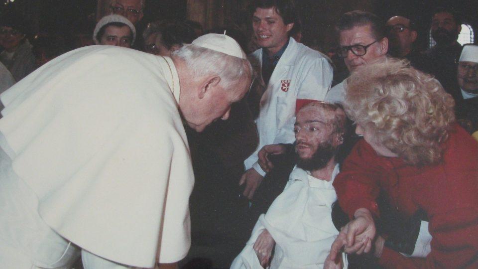 Julius Varga - setkání s papežem Janem Pavlem II.
