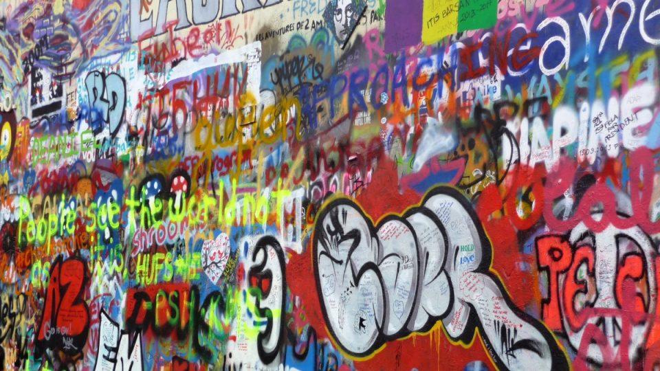 Lennonova zeď v roce 2014