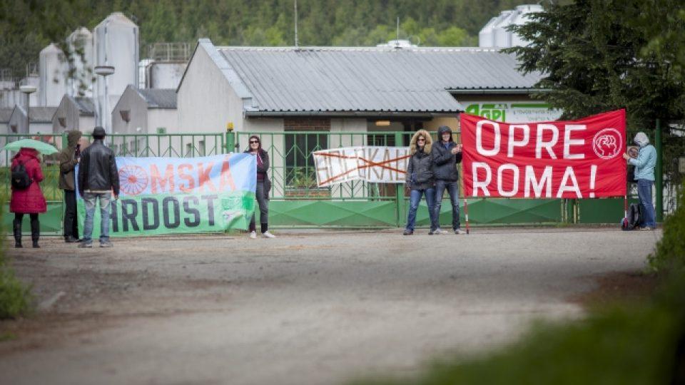 Aktivisté blokovali vepřín v Letech u Písku. Požadovali jeho zrušení
