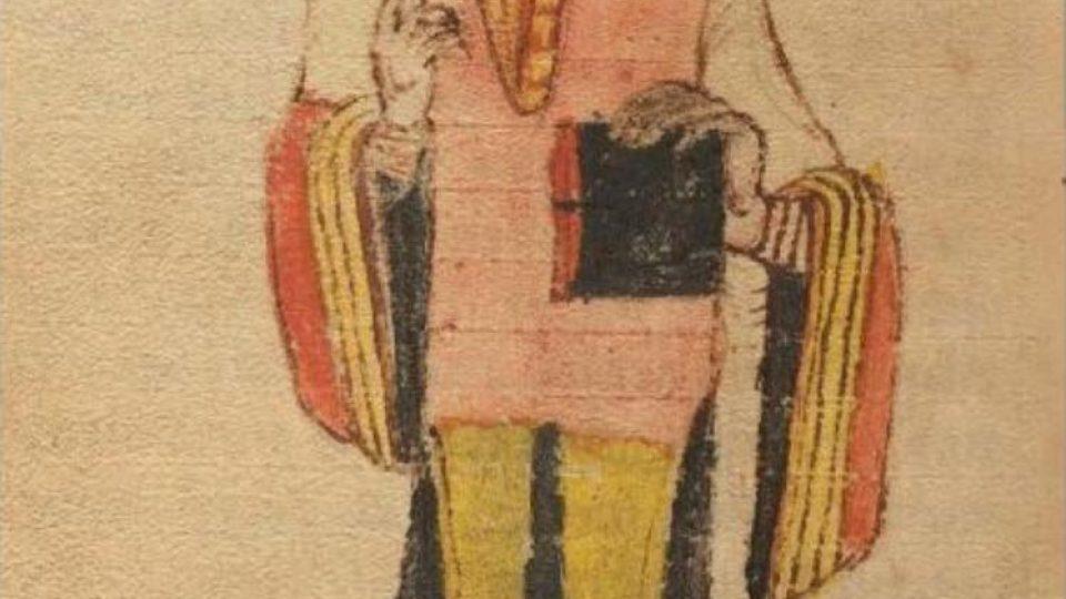Vyobrazení Kosmy v lipském rukopise jeho kroniky