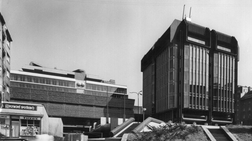 Komplex budov Transgas vznikl v 70. letech 20. století. Jsou postaveny v brutalistním stylu
