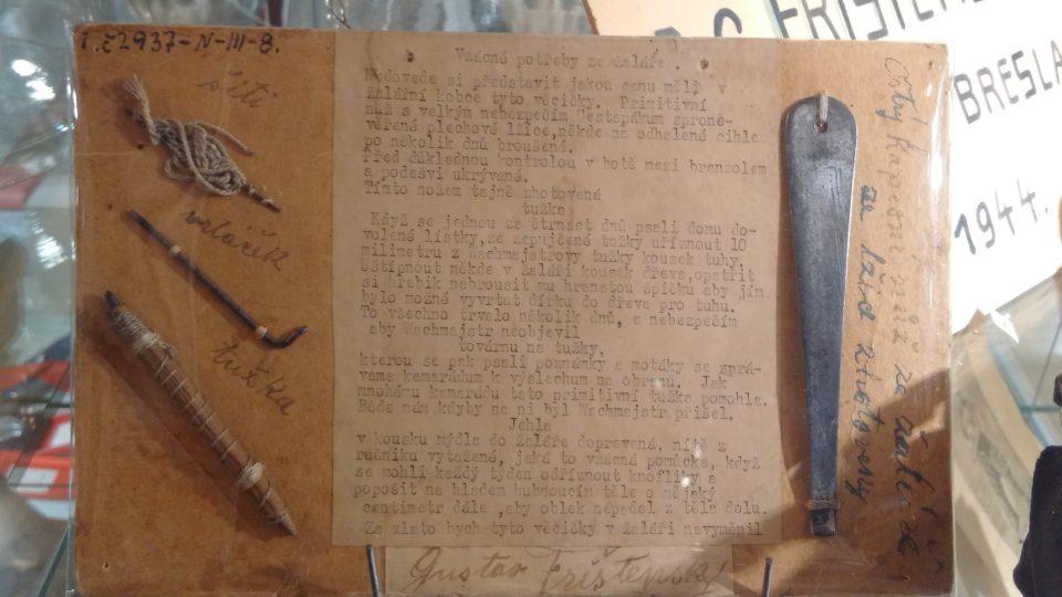Artefakty z nacistického žaláře