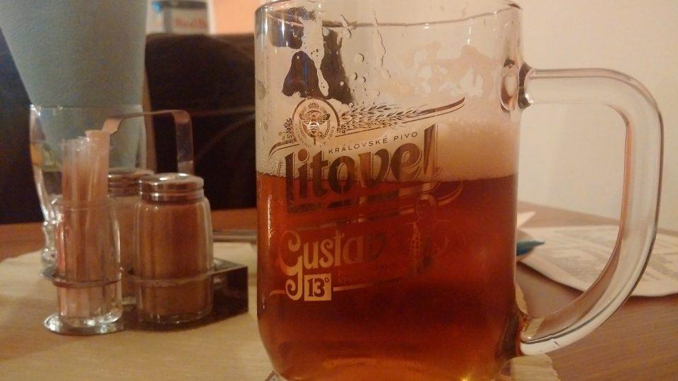 Sváteční ležák litovelského pivovaru