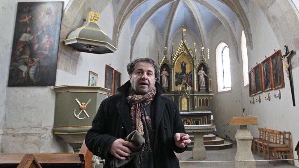 Miloš Doležal v Číhošti (Pouť k výročí umučení P. Josefa Toufara komunistickou StB)