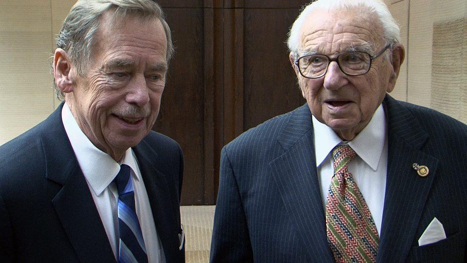Václav Havel s Nicolasem Wintonem