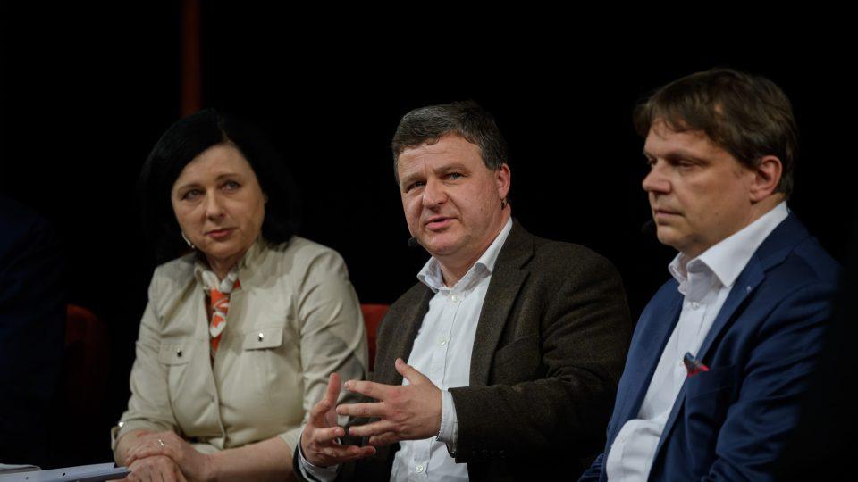 Věra Jourová, Jiří Přibáň a Pavel Kohout