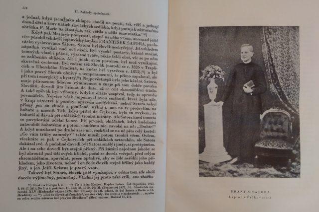 Vyobrazení Františka Satory v masarykovské biografii historika Zdeňka Nejedlého