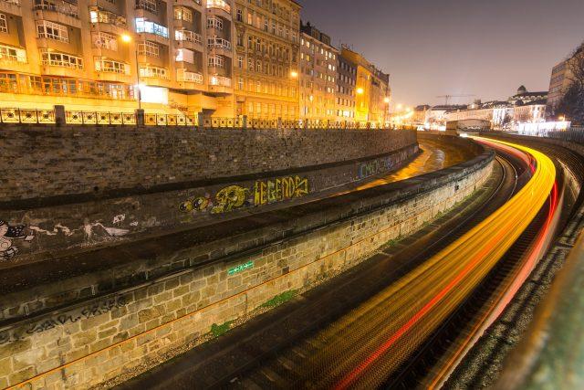 Vídeň - světelný smog