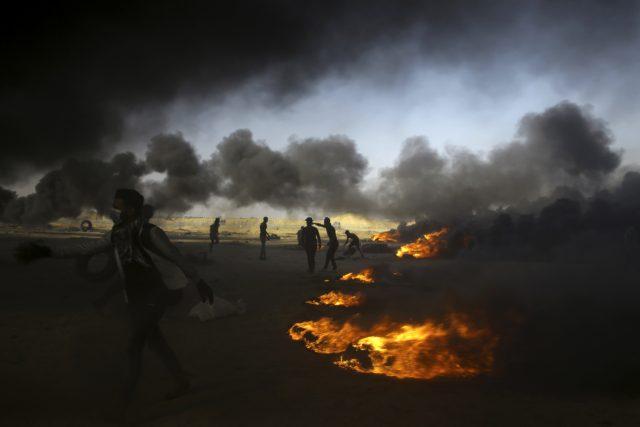 demonstrace, násilí, pásmo Gazy