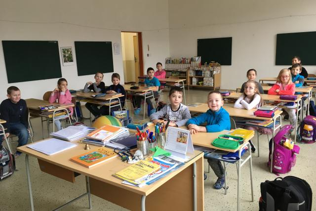 Luhačovičtí školáci ve Kladné - Žilíně