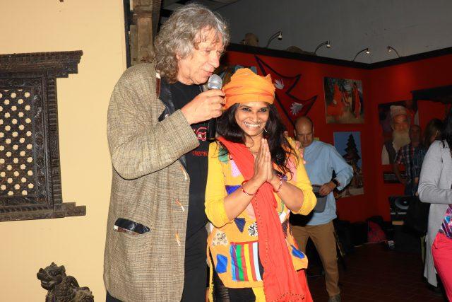 Cestovatel Rudolf Švaříček při zahájení výstavy Magický Himálaj v areálu bývalého výstaviště v Liberci
