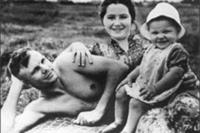 Jurij Gagarin s rodinou