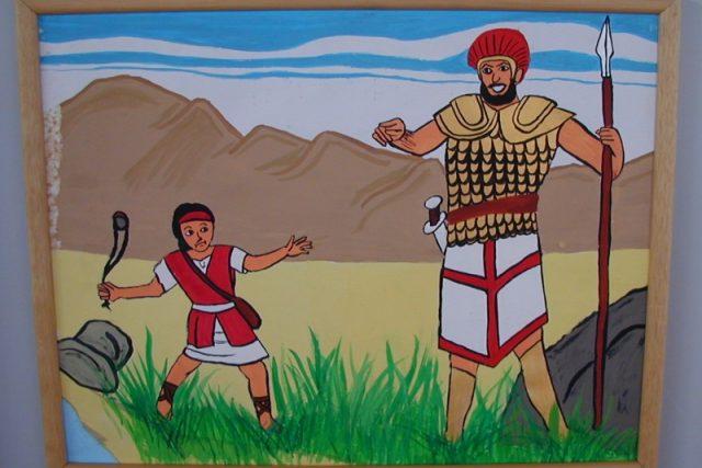 David a Goliáš (Autor: Raz Ben Chaim, 10 let, Velká Británie)