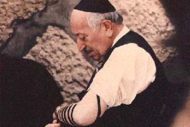 Simon Wiesenthal u Zdi nářků v Jeruzalémě