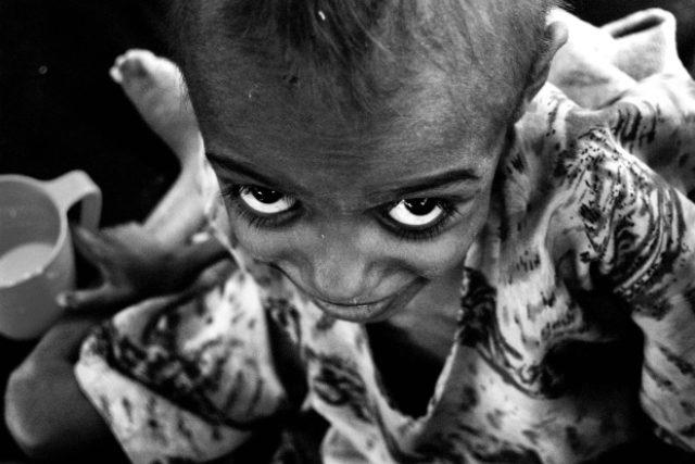 Malý obyvatel Etiopie, která je jednou z nejchudších zemí Afriky