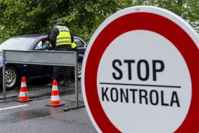 Kontroly na česko-německé hranici v Hřensku