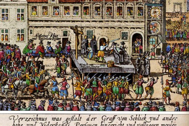 Poprava 27 českých pánů na Staroměstském náměstí | foto: autor neznámý,  Wikimedia Commons,  CC0 1.0