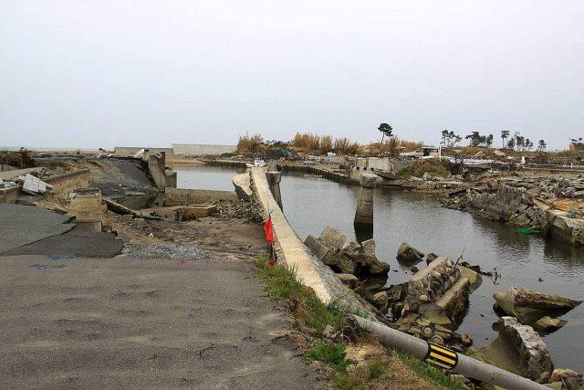 Město Shinchi v prefektuře Fukušima, tři měsíce po katastrofě